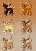 Lion Cub Points Adopts - CLOSED by Nala15