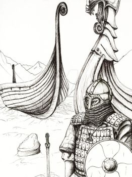 Viking Pen and Ink by UncleBob47