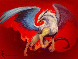 Griffin made with acrylics by luigiix