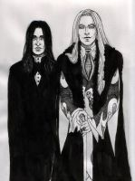 Malfoy and Snape by ThanataPhaemo