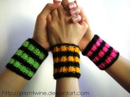 Funky wristbands by prismtwine