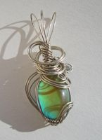 Wire Wrapped Color Changing Pendant by Sercive