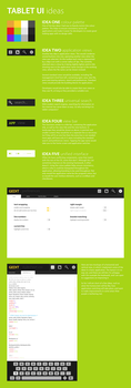 Tablet OS concept version 4 ideas by spiceofdesign