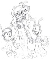me and the warner brothers ^^ by Fire-Miracle