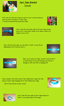 Duct Tape Braclet Tutorial by MakorraLover827