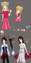 Victoria and Lena Reference and Profile by TealHikari