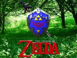 Link's Master Sword + Shield by Marty--McFly