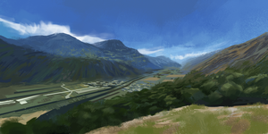 Virtual Plein Air - Switzerland II by IceRider098