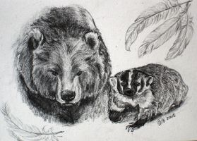 The Badger and the Bear by FreeMeadows