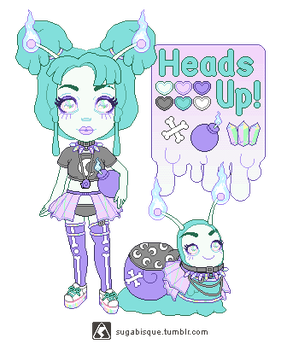 Adopt - HeadsUp SlymeGirl (gift) by firstfear