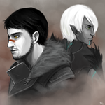 Dragon Age - Hawk and Wolf by ilmenhin