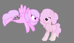 TWO PINK PONIES X3 by QueenMelody22