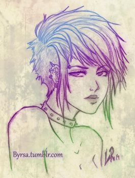 Punk girl by Byrsa