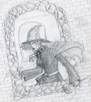 Witch Drawing by SleepDebt