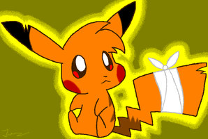 Request: Static the Pikachu by HeartinaRosebud
