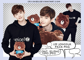 O3 | Lee Jong Suk (Pack PNG) by crxoked