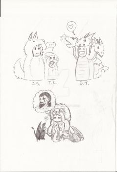 A Song Of Ice And Fire: Sketchdump by Lykos-91