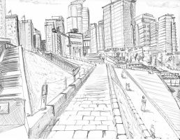 Downtown Lines by cgkevin