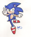 Sonic the Hedgehog :: Marker by firebladecatcalie