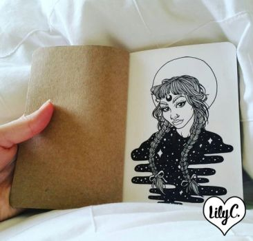 Mini Sketchbook - First Page by witchhboy