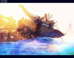 BG color practice(ship wreck) by artnerdx