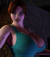Pale Lara Croft Close Up by willdial