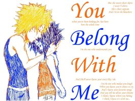 You Belong With Me-NaruSasu by innocent-angel11