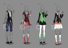 Some Outfit Adopts #19 - sold by Nahemii-san