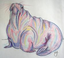 pink walrus by uvbnnatattacked