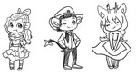 HPM Chibis Prinella, Harvey, Josey by Princess-Hanners