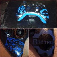 Gears of War Clayton Carmine Custom Controller by dmillersquared