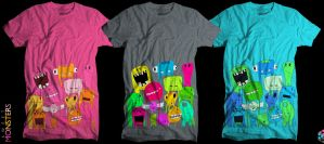 Sweet Monsters T-SHIRT by Poof2507