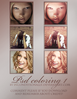PSD coloring 1 by inconditionally
