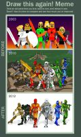 DRAW THIS AGAIN!: TOA-MATA (BIONICLE) by AndrakaNuva
