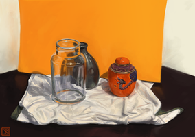Still Life with Pots by merbel