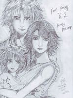 Family Portrait for FFX-2 by hikariyumi92