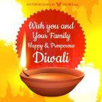 Diwali Good Wishes Free Vector by vecree