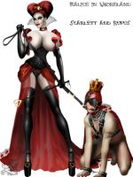 The Red Queen and The Red King of Hearts by Laszivia