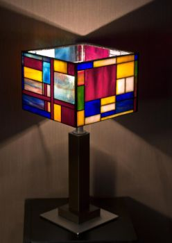 Stained glass lamp Mondrian. by zyklodol