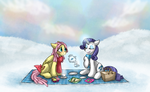 Snow Picnic by aisu-isme