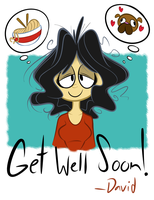 Get Well Doodle for Sandra by RedBlooper