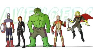 Avengers Redesign by ComickerGirl