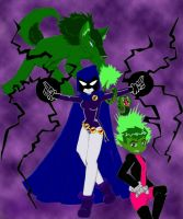 Raven...Beast Boy...GO by WhiteRaven4