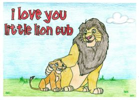 I Love You, Little Lion Cub by sobie182