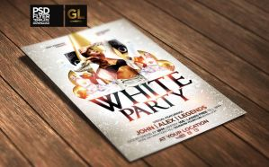 White Party Flyer Template by Grandelelo