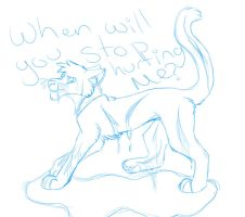 When Will You Stop Hurting Me? -Sketch- ~VentART~ by Toxic-Waste-Mutt