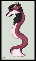 Dragon-fox coloured by Deezmo
