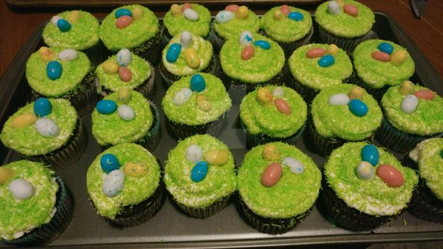 More Easter cupcakes!!! by Annamarie2014