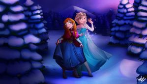 Frozen Sisters by Chansey123