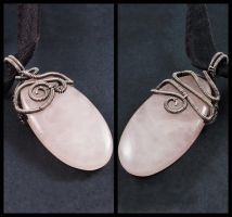 Reversible Rose Quartz Necklace by Gailavira